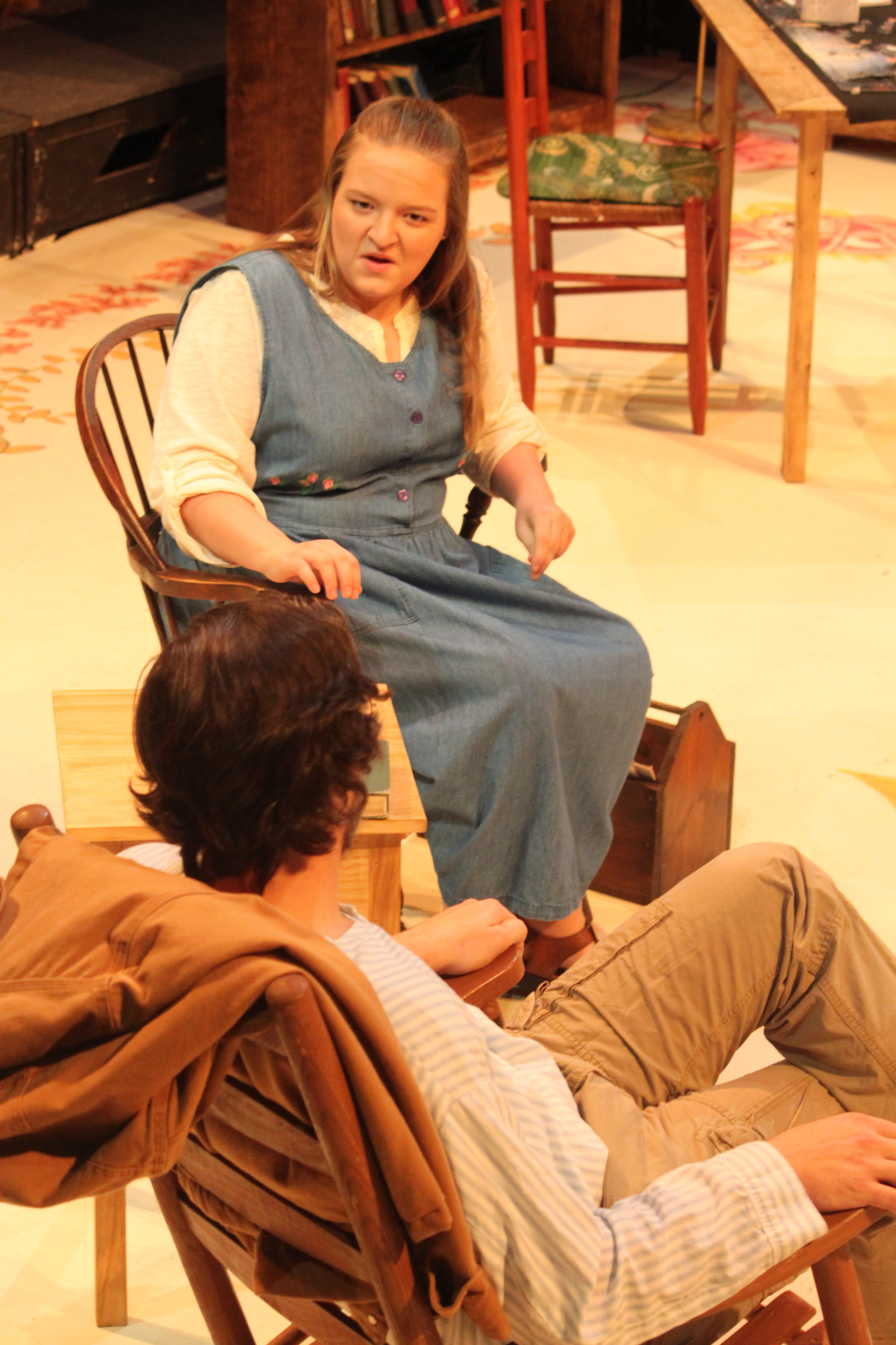 Kim Owen and Colton Mallory in Vanya and Sonia and Masha and Spike, 2017