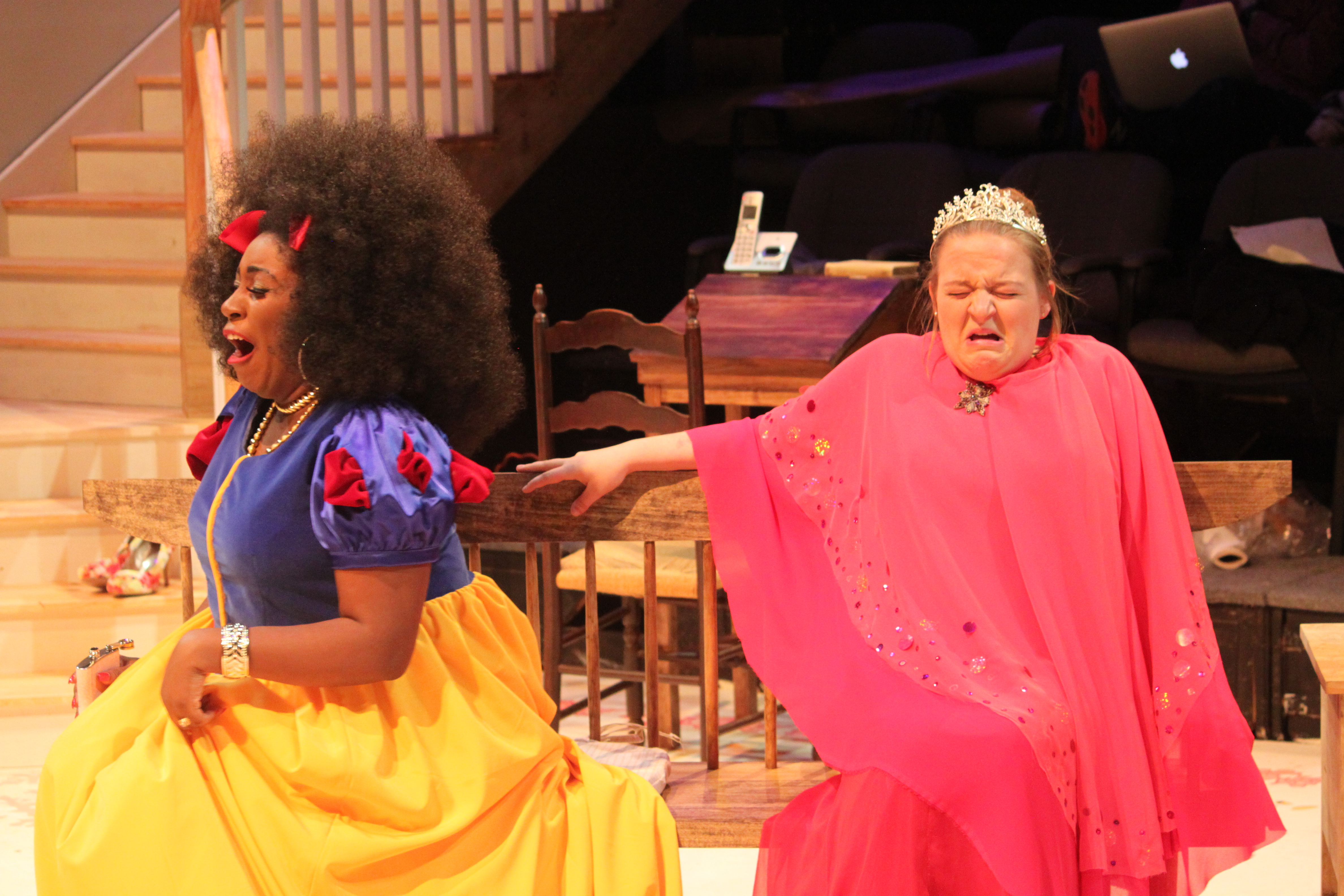 Kim Owen and Jasmine West in Vanya and Sonia and Masha and Spike, 2017