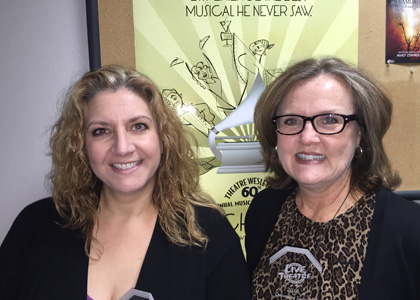 Kristin and Connie receive LTL Awards