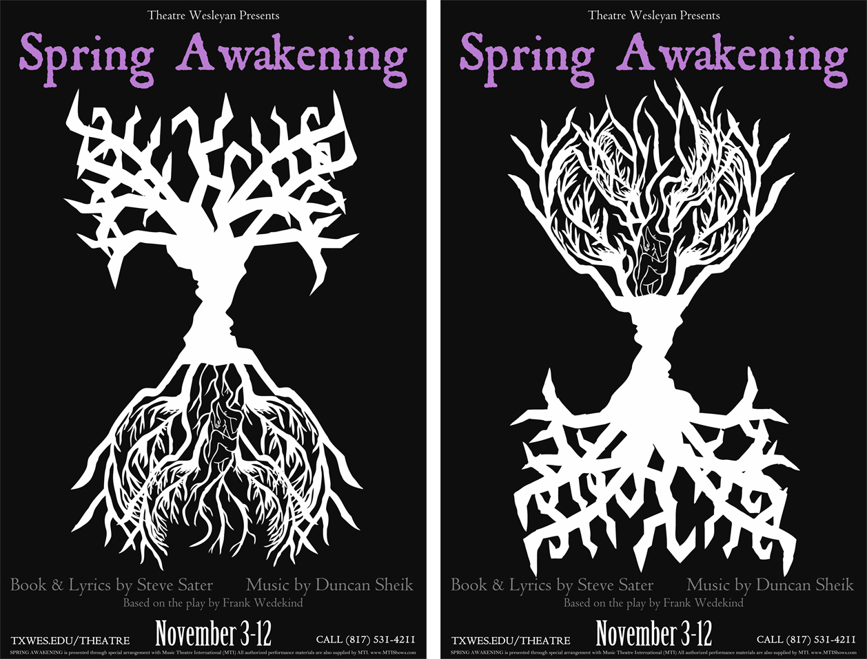 First look at student-designed poster for upcoming musical