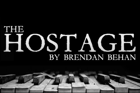Title treatment for Theatre Wesleyan's The Hostage