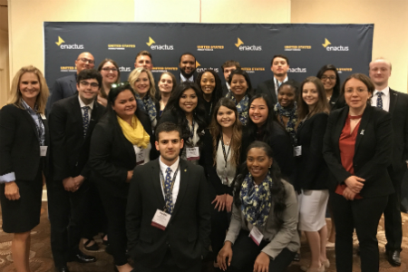 The 2018 Enactus Regional team group photo.