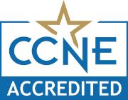 Seal showing accreditation from the Commission on Collegiate Nursing Education (CCNE).