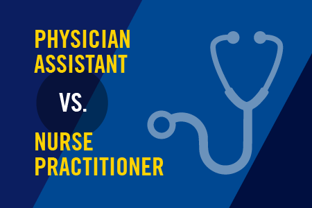 Blog graphic for physician assistant vs. nurse practitioner blog
