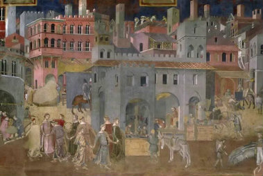 Photo of a medieval painting