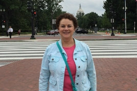 Texas Wesleyan University History Professor Brenda Matthews in Washington D.C.