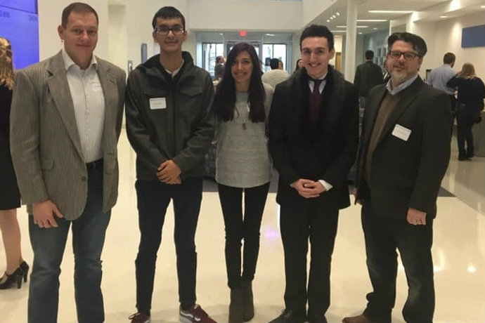 Texas Wesleyan history students and faculty at MEMNTO 2019.  Chris Ohan, Eric Reyna, Tatyana Levitzki, Edon Ademaj, Alistair Maeer
