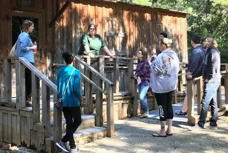 Dr. Stegman's Public History Class (HIS 4318) Visits Log Cabin Village, October 11, 2018