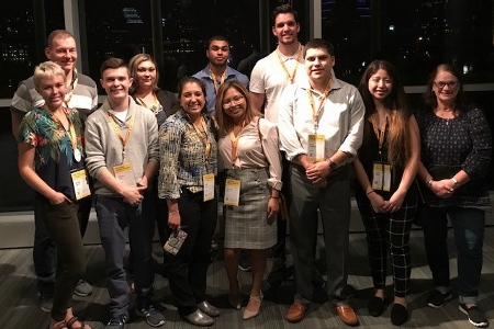 Hatton Sumners Scholars and faculty at Tribune Festival 2018