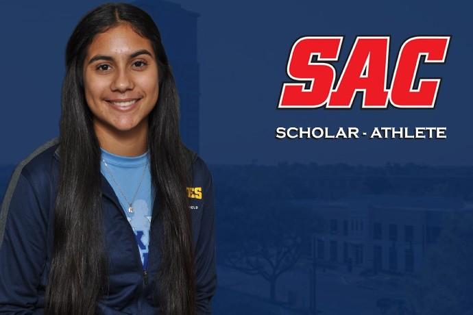 Photo of TXWES student-athlete Raquel Ramos, one of the SAC scholar-athletes honored