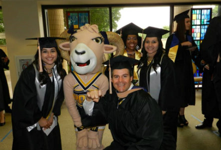 Undergraduate graduating students at Texas Wesleyan graduation.