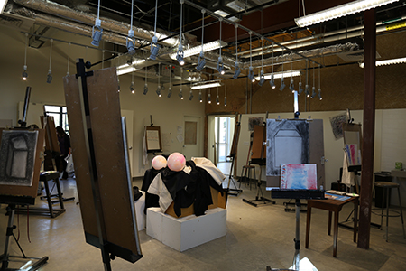 Interior of the Art Studio, located in the Polytechnic Firehouse, which was renovated as part of the Rosedale Renaissance.