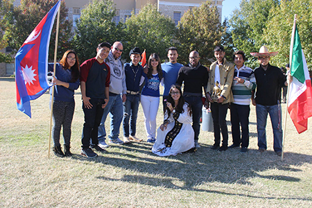 The Office of Student Life hosted 250 students, faculty and staff members during their 'Around the World' celebration on the campus mall Nov. 19.