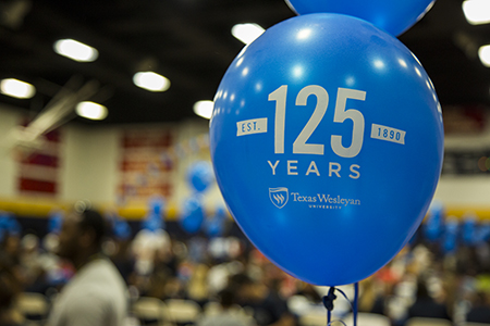 Rams Up! This year's President's Picnic kicked off Texas Wesleyan's 125-year anniversary.