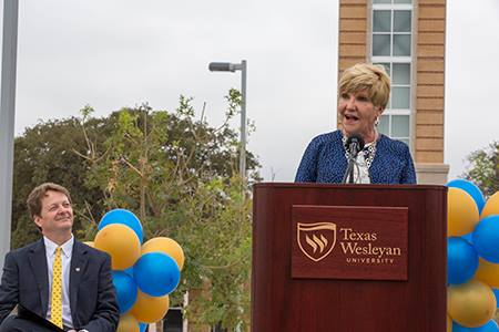 More than a thousand people gathered at Texas Wesleyan University on Oct. 22 to celebrate the Rosedale Renaissance and the transformation it brings to campus and to Southeast Fort Worth.