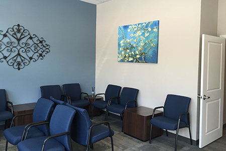 Counseling center reception area at Texas Wesleyan.