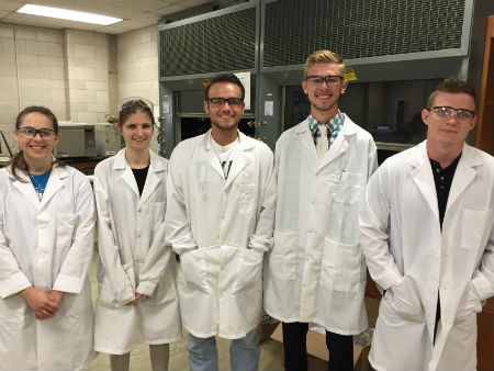 Through the support of the Robert A. Welch Foundation, students in the Department of Chemistry and Biochemistry are performing undergraduate research projects this summer.