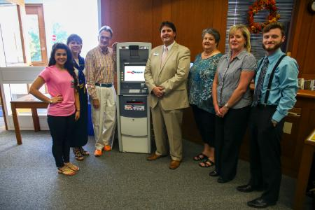 The West Library is now home to an OmniAmerican Bank ATM machine.