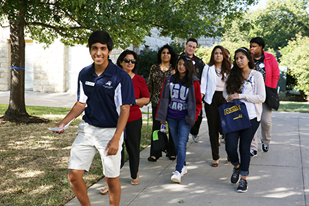 Blue and Gold Day is a special admissions event that invites area high school students and transfer students to campus to get a feel for