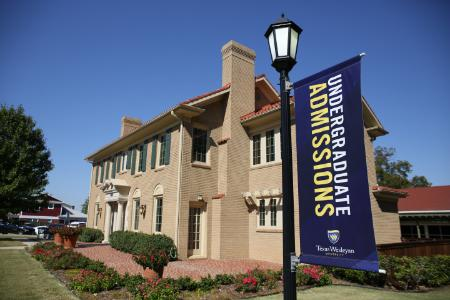 Office of Admissions building, Texas Wesleyan University