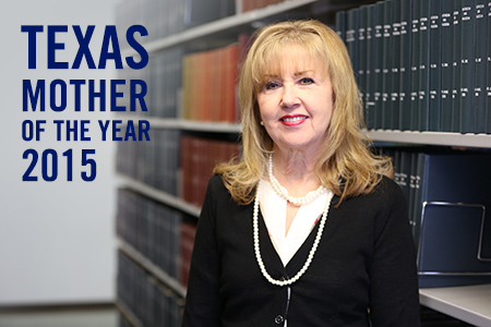 Linda Metcalf, Ph.D., is one of only 50 women from across the nation chosen to receive the Mother of the Year honor, and the only Texas Mother of the Year.