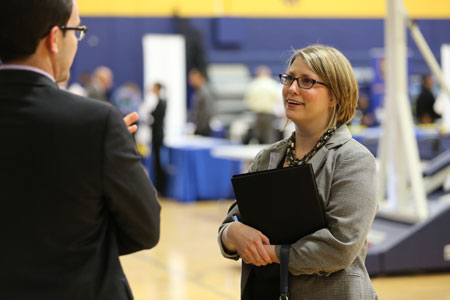 Interview at Texas Wesleyan's Annual Career Fair