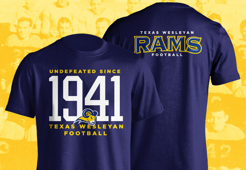 Texas Wesleyan football t shirt