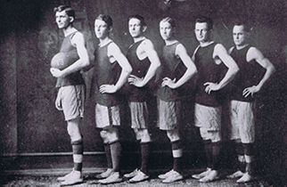 Poly Years-man basketball team