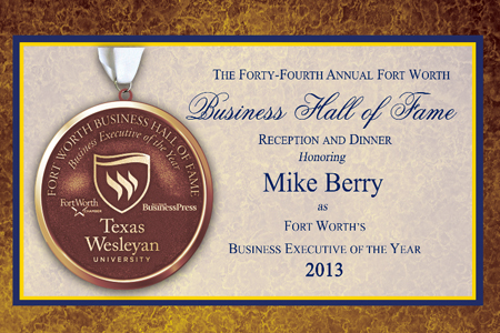 Image of Business Hall of Fame medal and information about 2013 event
