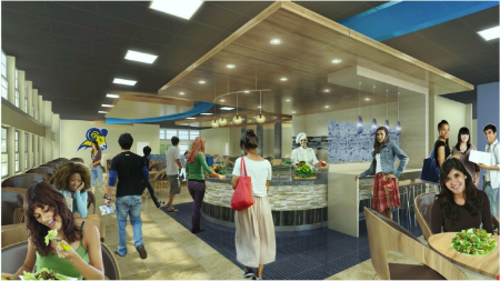 Dora Roberts Dining Hall will be renovated this summer.