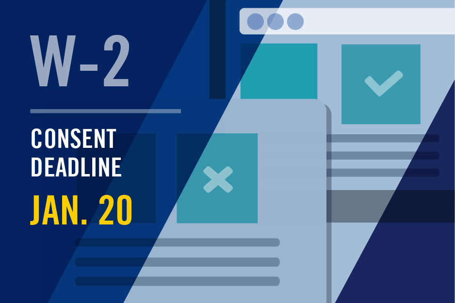 w-2 consent deadline news graphic