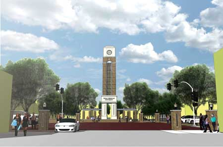 Texas Wesleyan's new campus entryway project will break ground in June.