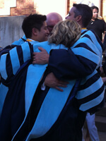 Shane and Marilyn after Spring graduation ceremony, 2014