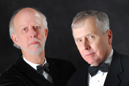 Formal headshot of piano duo JOhn Fisher and Bruce McDonald
