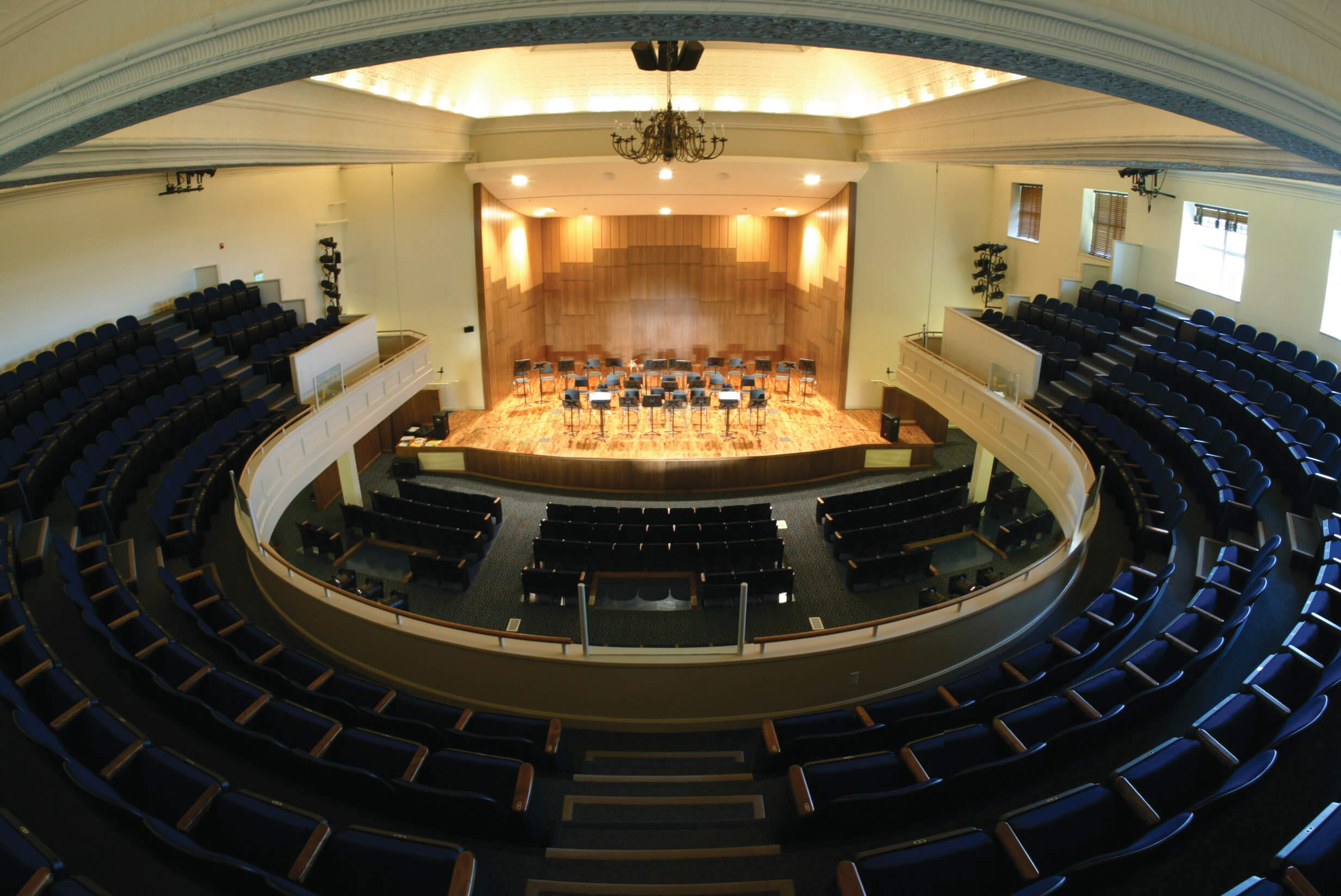 A view of Martin Hall from the balcony