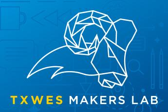 Photo of TXWES Ram designed for the Makers Lab graphic.