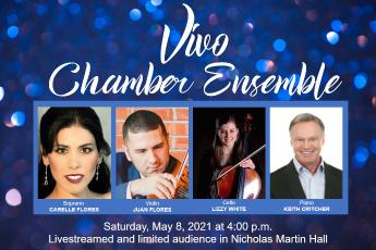Publicity for Vivo Chamber Ensemble May 8 2021