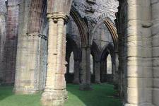 This is a photo of Tintern Abbey located on the Welsh bank of the River Wye.